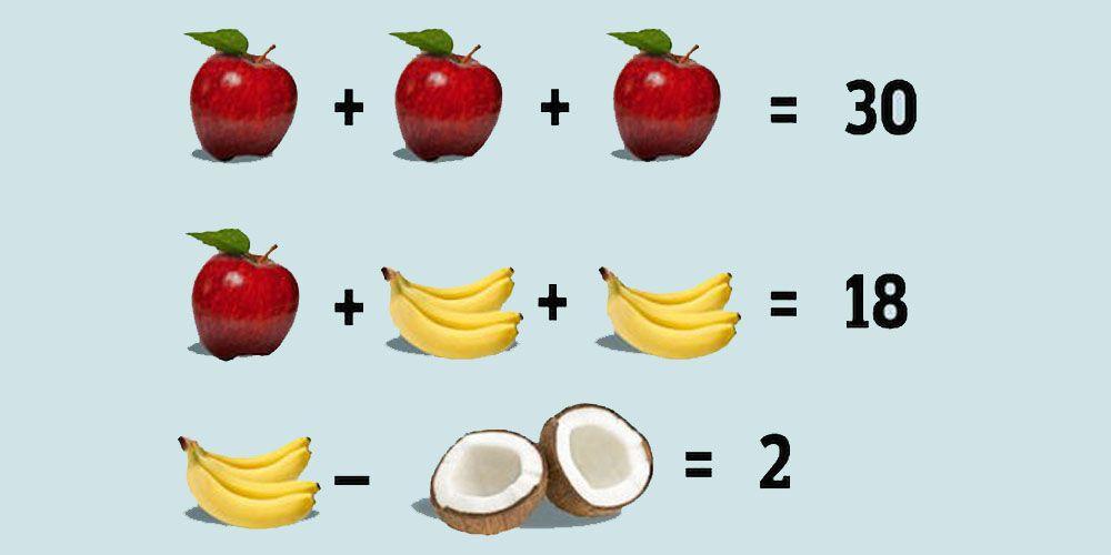 El acertijo de las frutas para niños