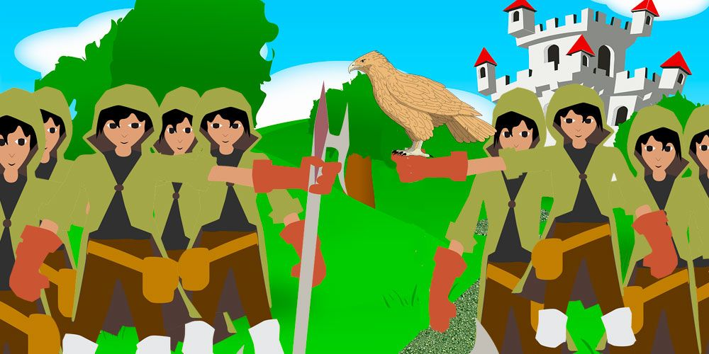 Los doce cazadores, un cuento d elos Hermanos Grimm para niños