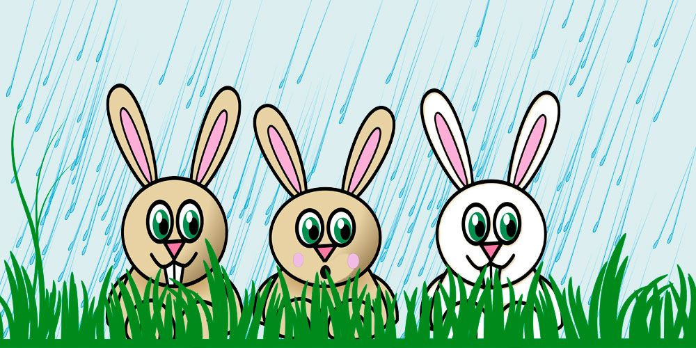 Llueve, canción para niños de Cri Cri