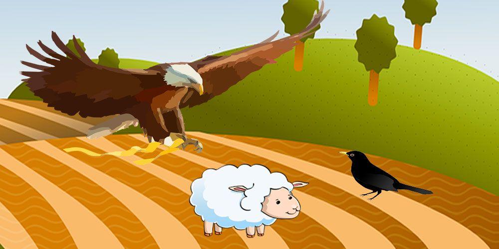 El águila, el cuervo y el pastor, una fábula de Esopo sobre la prepotencia