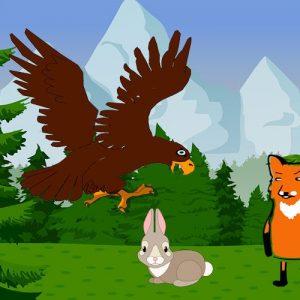 El águila y la zorra. Fábula de Esopo con valores para niños