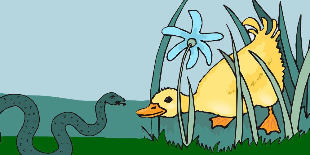 El pato y la serpiente, una fábula sobre la vanidad