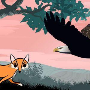 La traición del águila y la zorra. Fábula corta de Esopo