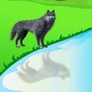 El lobo y el cordero. Fábula corta de Fedro para adolescentes y adultos