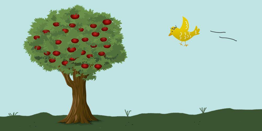 El pájaro de oro, cuento para niños de los Hermanos Grimm