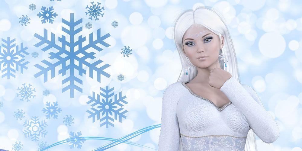La dama de la nieve, un cuento de Navidad para niños