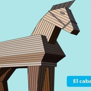 El caballo de Troya. Leyenda de la mitología griega para niños