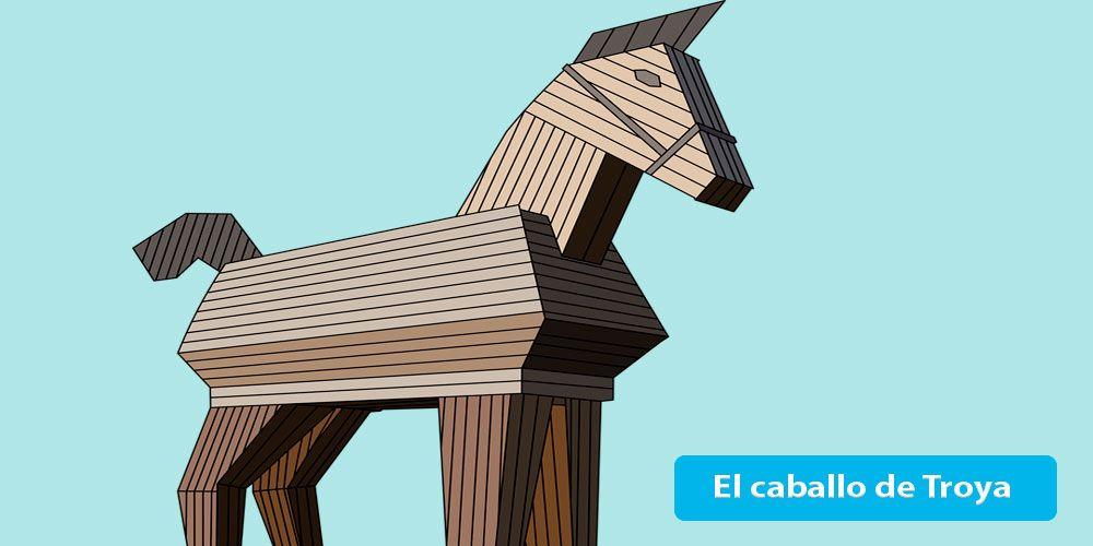 El caballo de Troya, leyenda de l amitología griega para niños