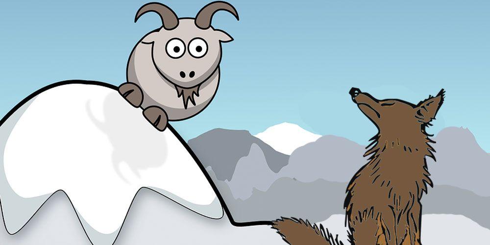 El cabrito y e lobo, una fábula sobre la vanidad