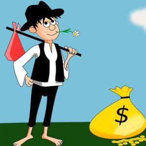El pobre y las riquezas. Fábula para reflexionar sobre los bienes materiales